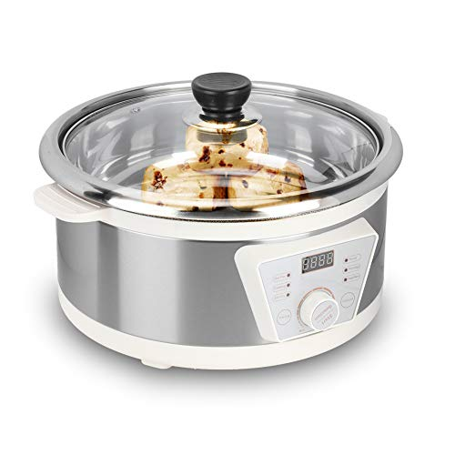 Mijoteeuse - Padella elettrica multifunzione, 30,5 cm di diametro, Automatic Constant Temperature Slow Cooker (220 V EU)