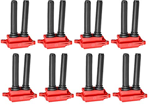 ENA Direct Ignition Coil Pack of 8 compatible with 2005-2019 5.7L 6.1L 6.4L V8 Dodge Challenger Charger Durango Magnum Ram 1500 2500 3500 Jeep Commander Grand Cherokee Chrysler 300 Aspen