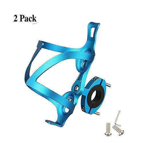 LOOZY Fahrrad Getränkehalter Fahrrad Trinkflaschenhalter Sicheres Rückhaltesystem,Leichter Und Starker Robuster Aluminium,aluminiumlegierung Mountainbikes, Und Rollstuhl (Color : Blau)