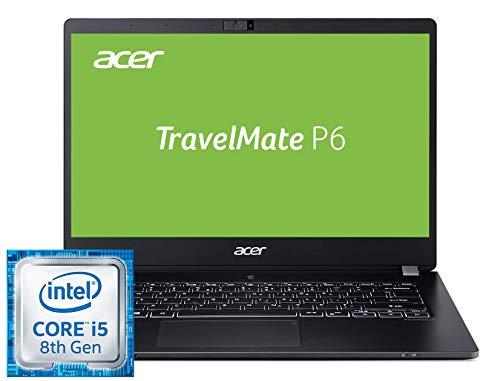Acer TravelMate P6 TMP614-51T-534F 35,6 cm (14 Zoll Multi-Touch Full-HD IPS) Notebook (Intel Core i5-8265U, 8GB RAM, 256GB PCIe SSD, Intel UHD, Win 10 Pro) schwarz