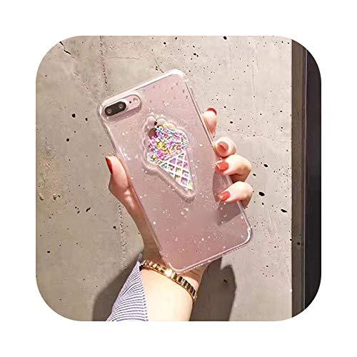 Friendshiy Schutzhülle für iPhone 11, für Person, Pillen, niedliche 3D-Kapselkapsel, für iPhone 11 Pro XS XR XS Max X 8 7 6 6S Plus, TPU, weich, transparent, Ice Cream Clear-for iPhone 7