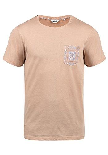 !Solid Ilari Herren T-Shirt Kurzarm Shirt mit Rundhalsausschnitt, Größe:XL, Farbe:Mahagoni Rose Melange (4203M)