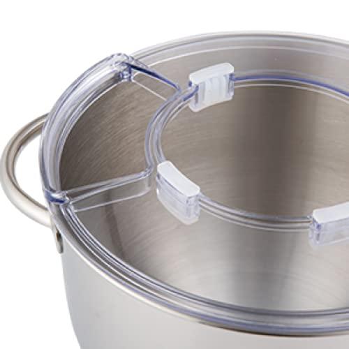 Aucma Aucma - Robot de cocina (recipiente de acero inoxidable, protección contra salpicaduras, 6,2 L, SM-1518N y SM-1518Z)