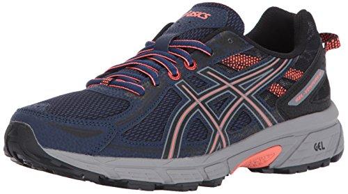 Asics - Gel-Venture 6 - Zapatillas deportivas para mujer, para correr, Azul (Azul índigo, negro, coral), 37.5 EU