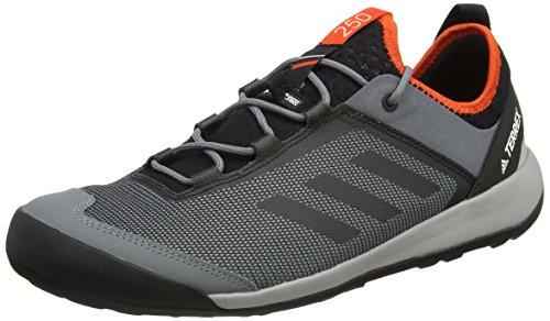 adidas Terrex Swift Solo, Zapatilla de Velcro, Hombre, Gris (Grivis/negbas/energi), 41 1/3 EU