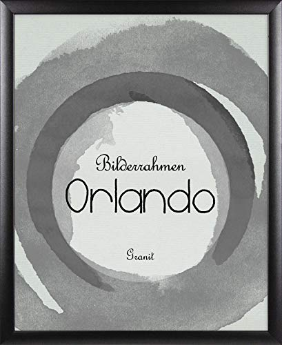 BIRAPA Bilderrahmen Orlando 80x120 cm in Granit aus Massivholz mit 2 mm entspiegelter Kunstglas Scheibe