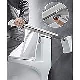 Asidero de Seguridad, Barra abatible Inoxidable para baño Asa Antideslizante Evitar Resbalones, para Baño Adaptado a Personas Mayores o con Minusvalías, 70cm