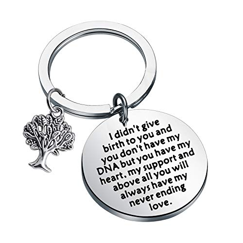 Adoption Gifts Keychain Adopted Child Gifts Stepdaughter Stepson Gifts from Stepmom Stepdad Adoption Jewelry You Will always have My Never Ending Love (step child keychain)