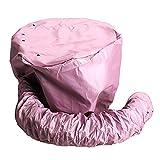 HIUGHJ 1 pz Nylon asciugacapelli Tappi per la Cura tinture per Capelli modellazione Riscaldamento Berretto di Asciugatura ad Aria Calda a casa pi¨´ Sicuro di Elettrico, Rosa
