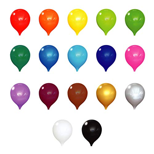 PermaShine - Reusable Helium Free 13' Replacement Balloons (4-Pack) - Permanent Plastic Indoor and Outdoor Balloons - Hardware Required