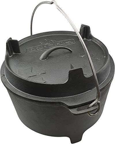 Grillfuerst Dutch Oven BBQ Edition DO9 v2 Gusseisen Feuertopf/Kochtopf