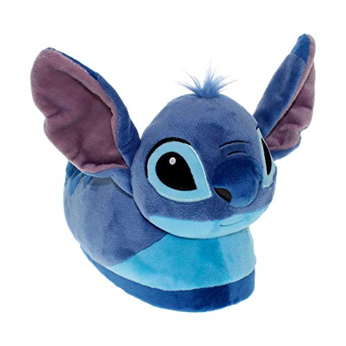 Happy Feet Slippers Officially Licensed Disney and Pixar Character and Figural Lilo & Stitch Blue Stitch Slippers for Men, Women, and Kids, As Seen on Shark Tank (X-Large/XX-Large)