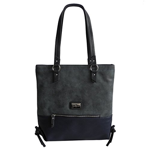 Damenhandtasche Schultertasche von Tom Tailor - Moderne Zeitlose Damen Handtasche Umhängetasche Henkeltasche Damentasche - (Blau) - präsentiert von ZMOKA®