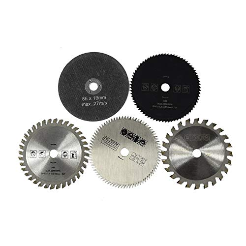5 unids HSS TCT hoja de sierra circular conjunto 85x10mm madera corte discos para metal cortador herramienta rotativa discos de corte conjunto