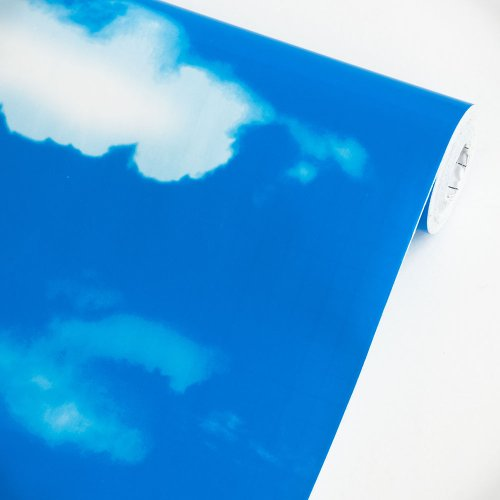 Blue Blue Sky - Vinyl Self-Adhesive Wallpaper Prepasted Wall Stickers Wall Decor (Swatch)