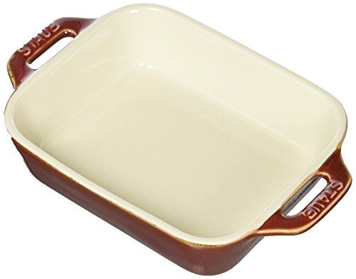STAUB Ceramics Rectangular Baking Dish, 5.5x4-inch, Rustic Red