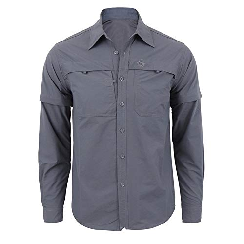 Aiserkly Herren Freizeithemd Langarm Hemd Regular Fit Grau 3XL