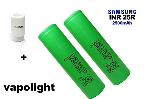 1 x Drip Tip goma incluye 2 baterías Samsung 25R