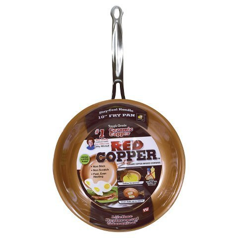 New As Seen On TV Copper 10' Frying Pan - Red