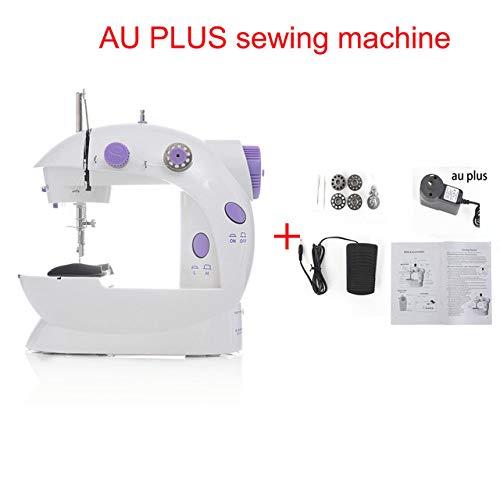 Best Deals! WQDWF Presser Foot Mini Portable Handheld Sewing Machines Stitch Sew Needlework Cordless...