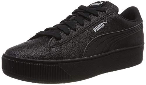 Puma Puma Vikky Platform Glitz Jr, Mädchen Sneakers, Schwarz (Puma Black-Puma Black), 38 EU