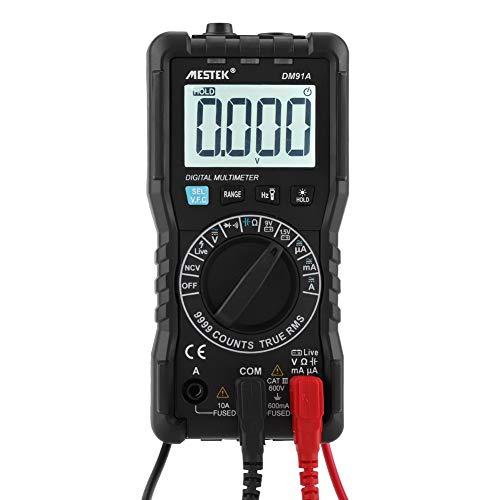 MESTEK Multimetro Digitale, DM91A 9999 ad Alta Precisione Portatile Automatico Previene la Masterizzazione Intelligente Universale Multimetri Elettric