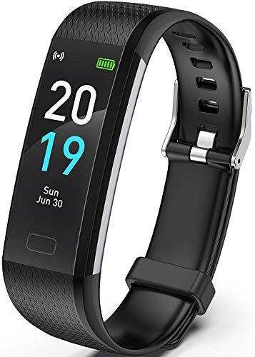 Fitness Tracker HR, S5 Activity Tracker Reloj con Monitor de frecuencia cardíaca, podómetro IP68 Monitor de sueño Resistente al Agua Contador de Pasos para Mujeres y Hombres