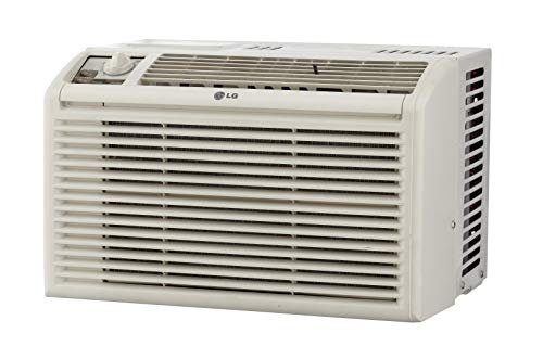 LG 5,000 BTU Manual Controls Window Air Conditioner, White