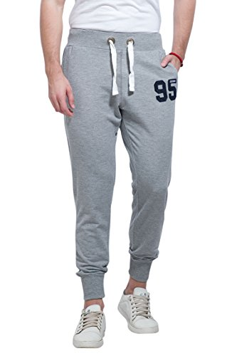Alan Jones Clothing Men's Cotton Joggers (Melange, XL)