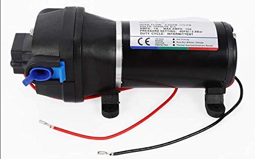 OUBAYLEW 12V 17L/min Wasserpumpe Druckpumpe Pumpe Membranpumpe für Yacht Wohnwagen Garten