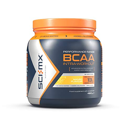 SCI-MX Nutrition BCAA Intra-Workout, Amino Acid Drink, 480 g, Mango, 32 Servings