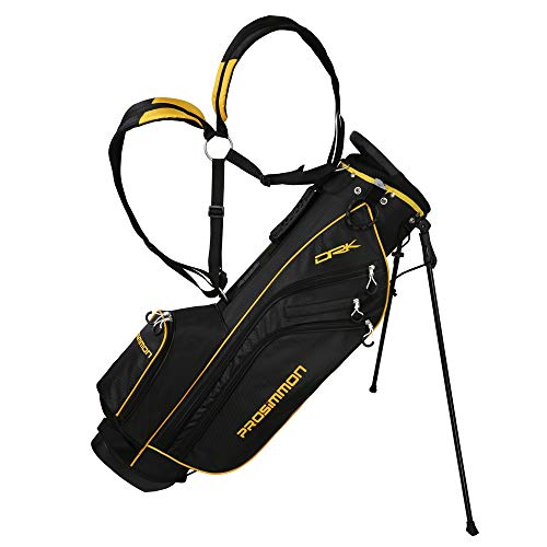 PROSiMMON Golf DRK 7' Lightweight Golf Stand Bag with Dual Straps Black/Gold