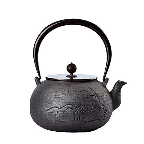 BAIHAO Tetera de Hierro Fundido, Tetera de Estilo japonés, Juego de té, oxidación a Alta Temperatura de la Pared Interior de arrabio, Estilo asiático