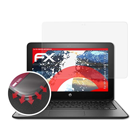 atFolix Schutzfolie kompatibel mit HP ProBook x360 11 G1 EE Folie, entspiegelnde & Flexible FX Bildschirmschutzfolie (2X)