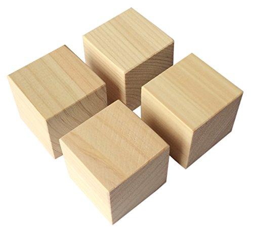 kicoriya 国産 ヒノキ 板 工作材料 DIY 端材 檜 サイコロ型 角材 4個セット インシュレーターにも