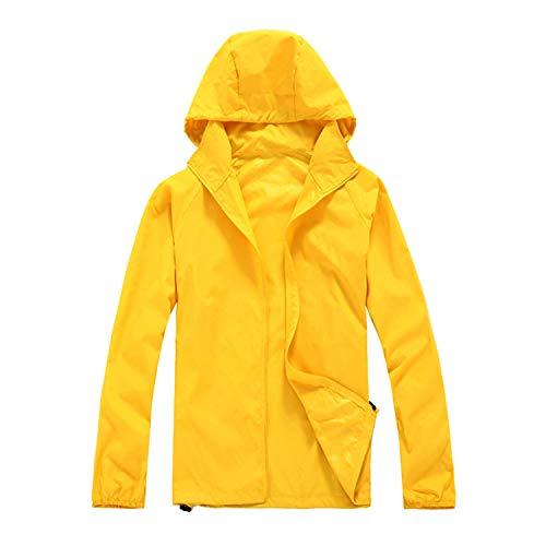 ZKOO Deportiva Chaqueta Unisex Anti-Ultravioleta Exodus Softshell Jacket Ropa al Aire Libre Chaqueta para Mujer Hombre Amarillo