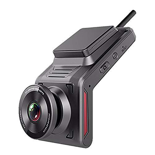 Nrpfell 4G Car DVR Dash Cam HD WiFi Videoregistratore di Guida con Doppia Telecamera Grandangolare Supporto per Visione Notturna Monitor di Parcheggio GPS