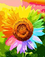 DIY 数字 油絵 塗り絵 キット 大人 子ども 塗り絵 多彩な花 デジタル油絵 手塗り 数字キットによる絵画 絵かき インテリア 壁飾り ホームデコレーション 40x50cm(額縁なし)