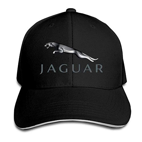 Youaini Jaguar Logo Adjustable Snapback Peaked Cap Baseball Hats Black