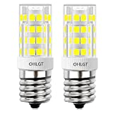 OHLGT E17 LED Bulb for Microwave Oven Appliance, 4 Watt (40W Halogen Bulb Equivalent), Daylight White 6000K, 350LM, Not Dimmable Pack of 2