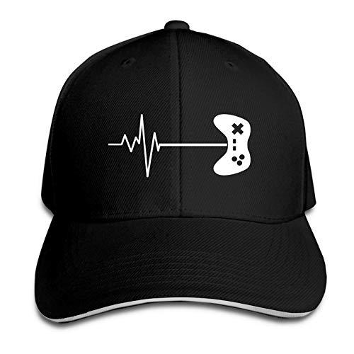 AUDNEDB Videojuego Heartbeat Gorra de bisbol Hombres Mujeres Classic Sports Casual Sun Hat Negro