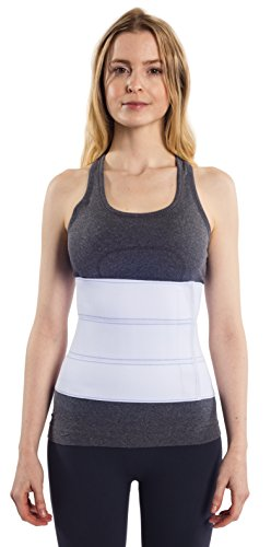 "NYOrtho Abdominal Binder Lower Waist Support Belt - Compression Wrap for Men and Women (30"" - 45"") 3 PANEL - 9"""