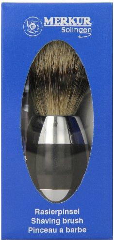 DOVO - Stahlwaren - Merkur - Rasierpinsel - Dachshaar Silberspitze - Alu Schwarz