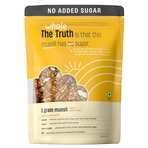 The Whole Truth - Breakfast Muesli - No Added Sugar 5 Grain Muesli - 350g