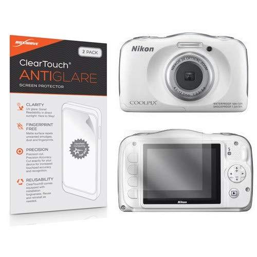 Nikon Coolpix S33Protector de Pantalla, BoxWave® [ClearTouch Anti-Brillos (2-Pack)] antihuellas Mate película Piel para Nikon COOLPIX S33