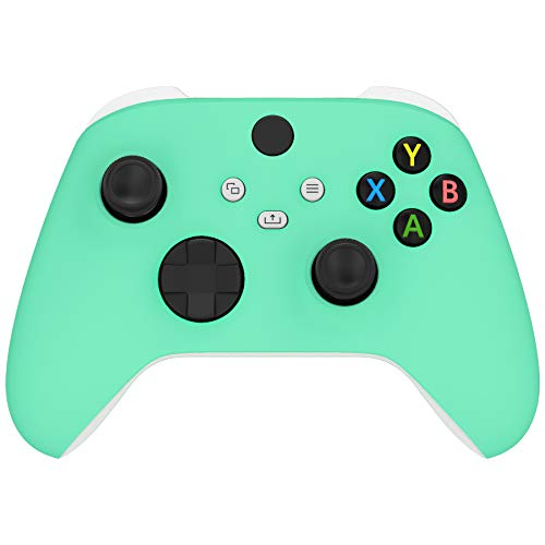 eXtremeRate Mint Green Replacement Front Housing Shell for Xbox Series X Controller, Soft Touch Custom Cover Faceplate for Xbox Series S Controller - Controller NOT Included
