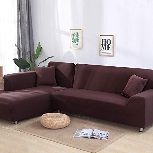 DINGDONG Protector para Sofa Impermeable,Funda Sofa 3plazas,Funda De Sofá Engrosada (MarróN)