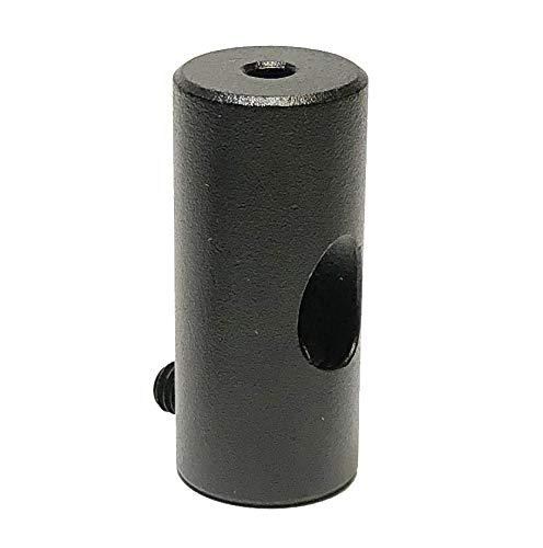 Sujeta cables metálico negro para techo alta resistencia - Accesorios para lámparas