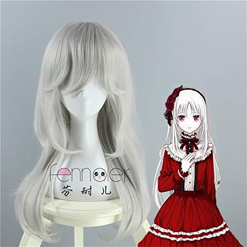 Anna Kushina Cosplay Wig K Anime K-project Silver Long Straight Costume Play Pelucas para la fiesta de Halloween