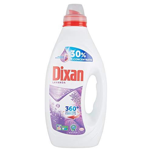 Dixan Liquido Lavanda Pulito Profondo, Detersivo lavatrice liquido contro le macchie ostinate, Detersivo liquido in formato da 27 lavaggi, 1,350 l